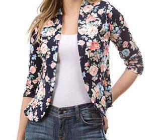 chaqueta para mujer de flores